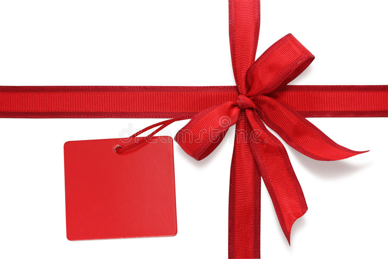 Curva vermelha com etiqueta fotos de stock royalty free
