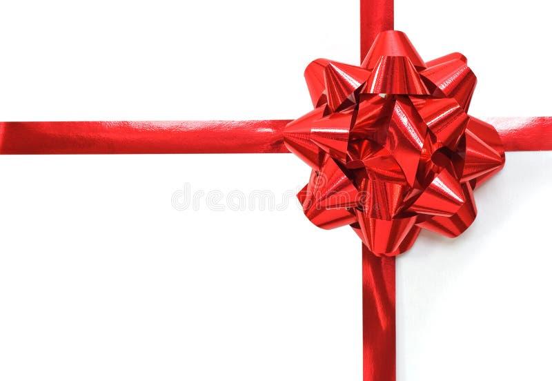 Curva vermelha do Natal fotografia de stock