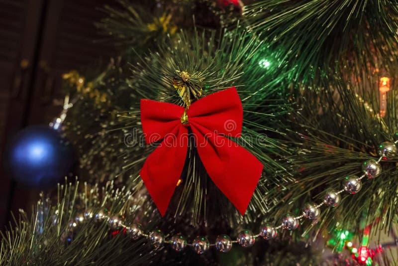 Curva vermelha do Natal foto de stock royalty free