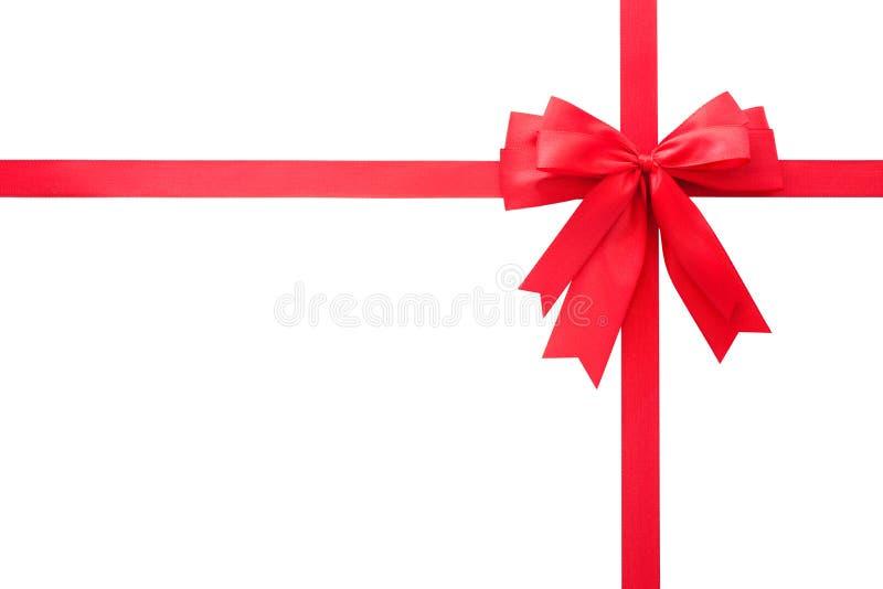 Curva vermelha do presente fotografia de stock royalty free