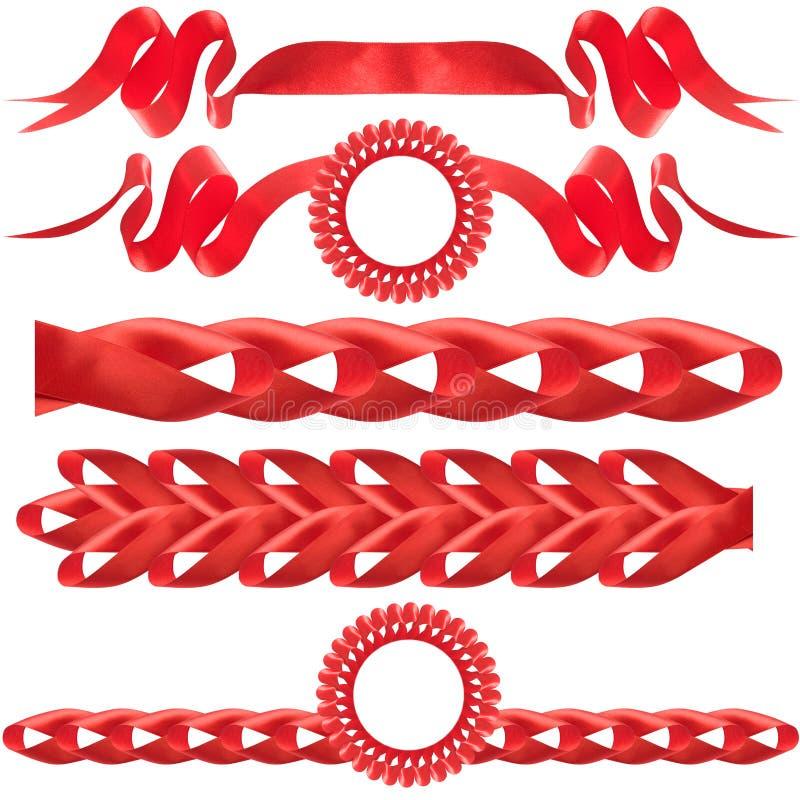 Curva vermelha, presente, a concessão. fotografia de stock
