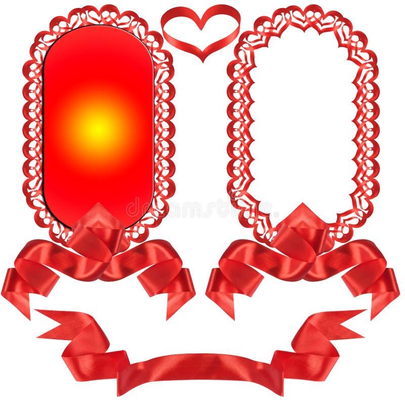 Curva vermelha, presente, a concessão. imagem de stock