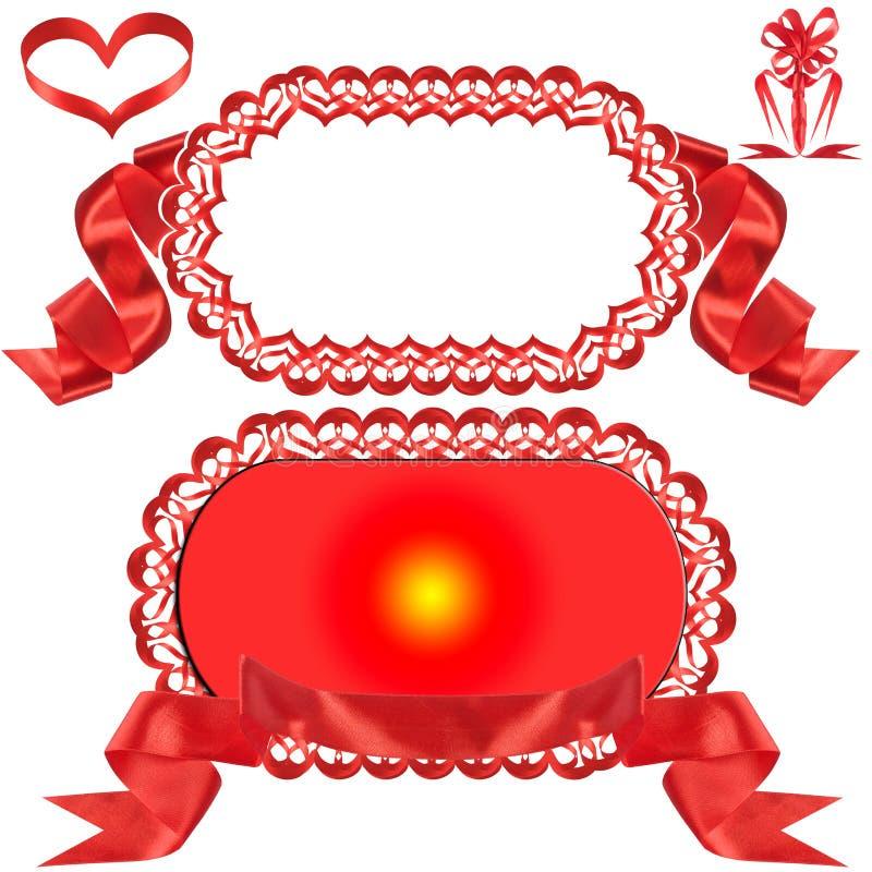 Curva vermelha, presente, a concessão. imagens de stock