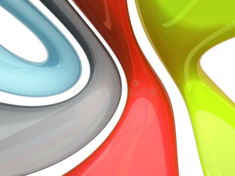 Curvando o sumário das cores ilustração stock