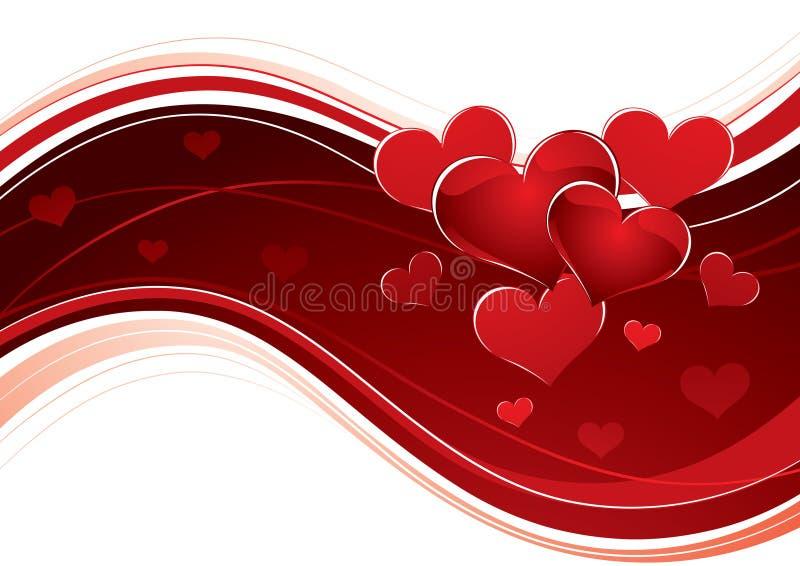 Curvar la bandera del corazón del amor stock de ilustración