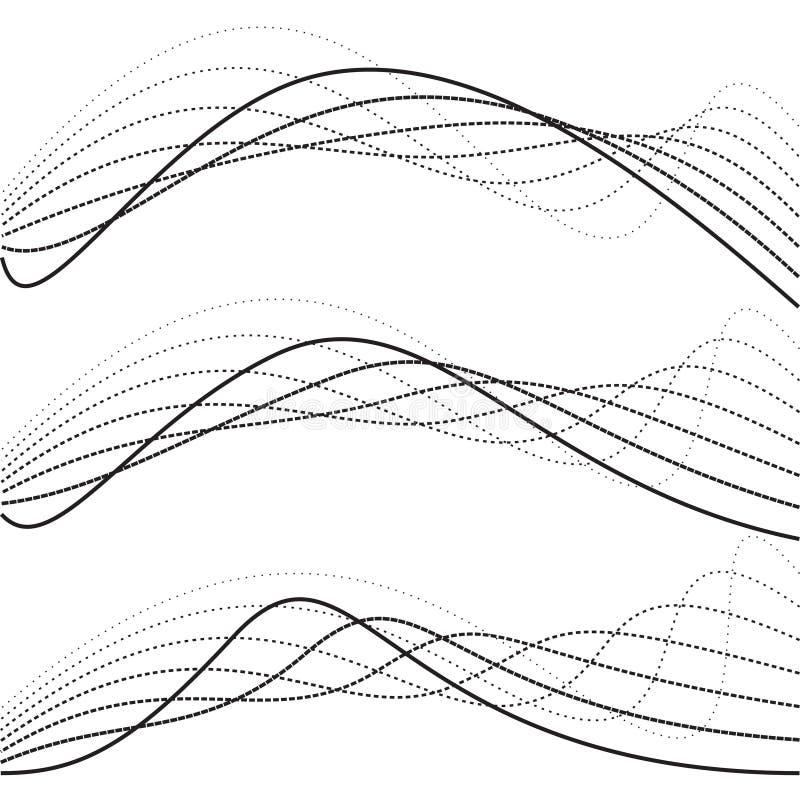 Curvas abstractas, gráficos del punto ilustración del vector