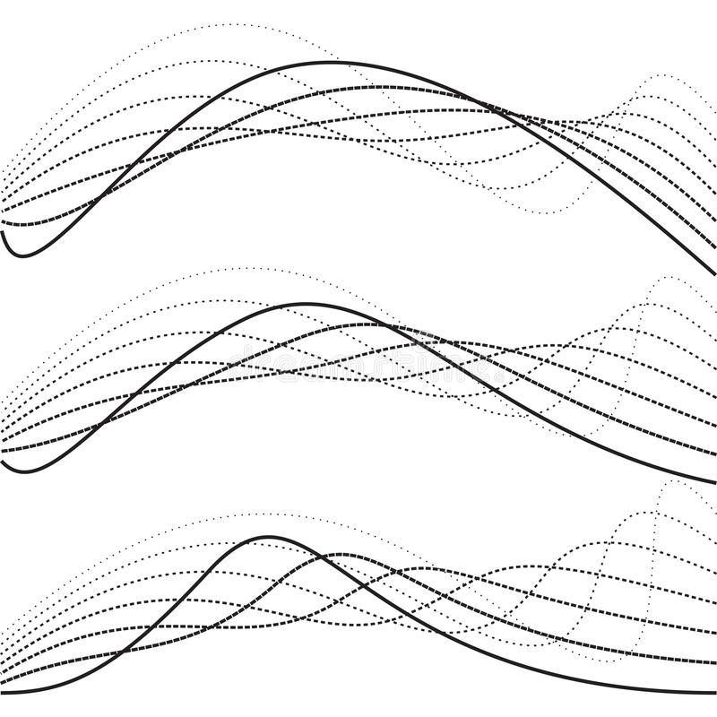 Curvas abstratas, gráficos do ponto ilustração do vetor