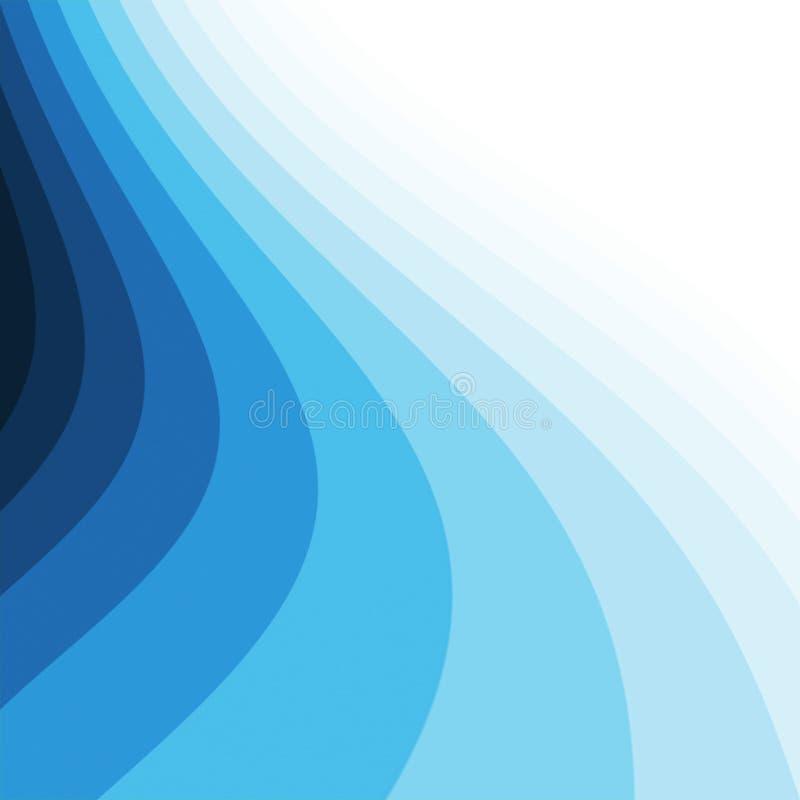 Curvas azules ilustración del vector