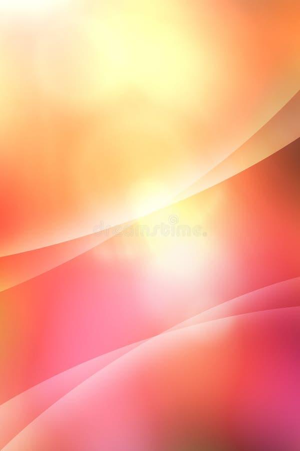 Curvas calientes abstractas ilustración del vector