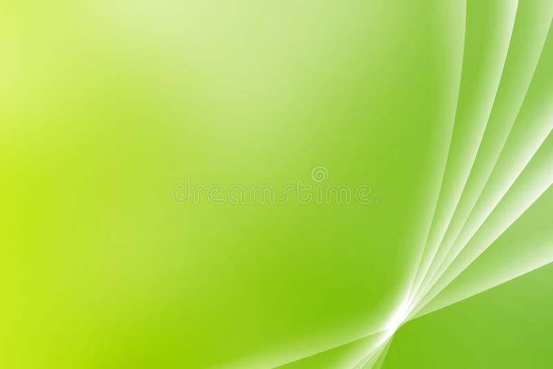 Curvas calmantes verdes de Vista ilustración del vector