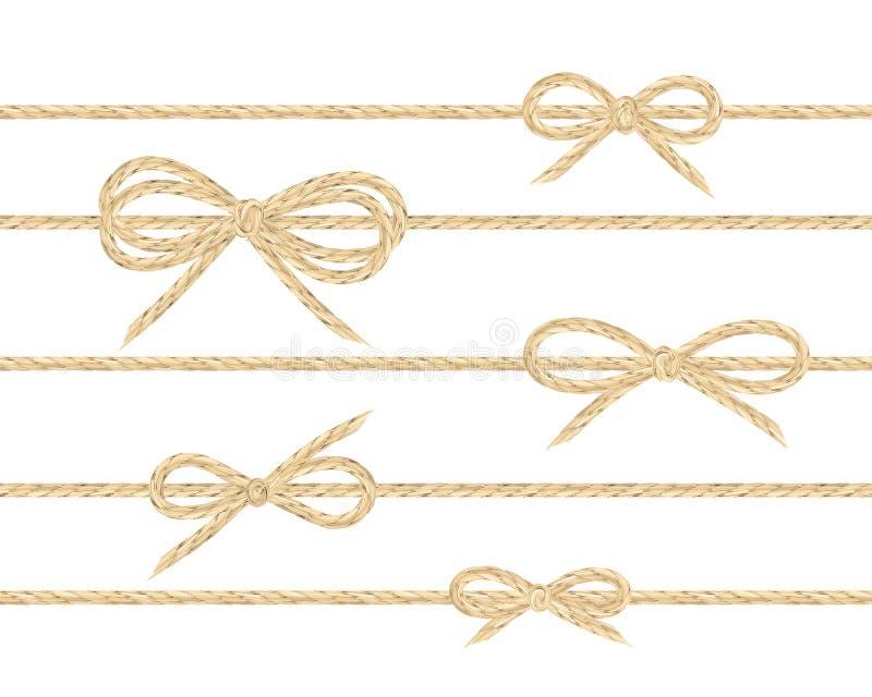 Curvas de linho da corda ilustração stock