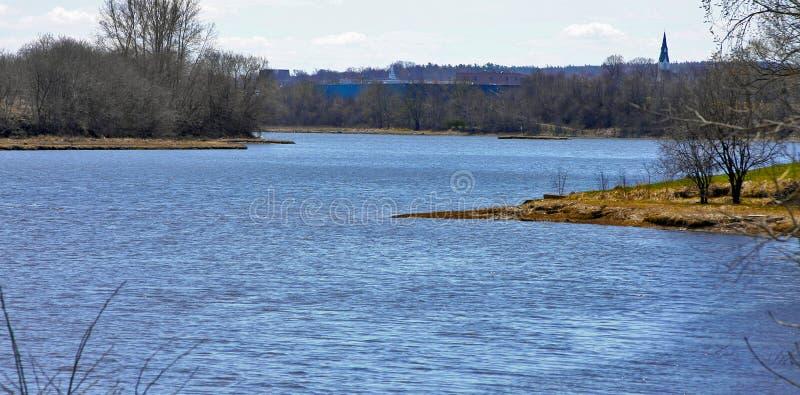 Curvas del río fotos de archivo