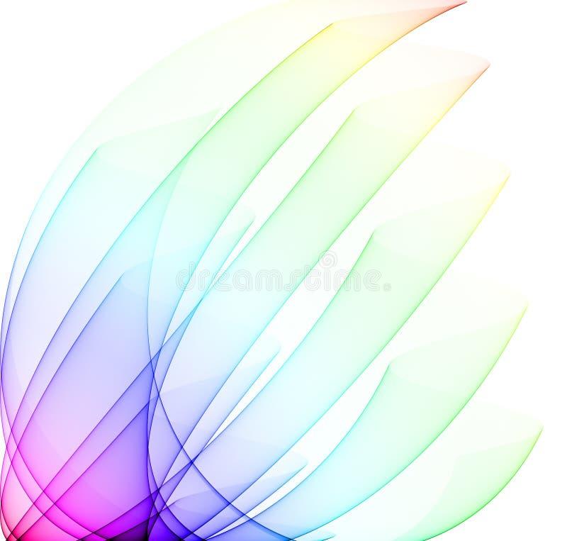 Curvas do arco-íris ilustração royalty free
