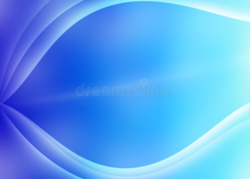 Curvas obscuras abstratas no fundo roxo e azul ilustração royalty free