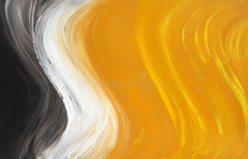 Curvas petróleo-pintadas sumário ilustração do vetor