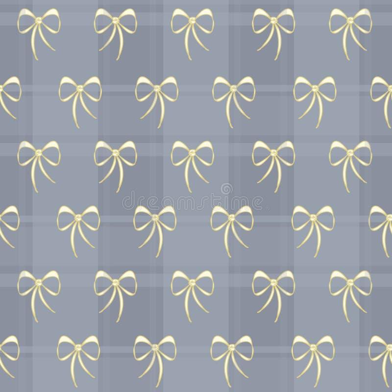 Curvas retros do laço do vetor com teste padrão da manta ilustração royalty free