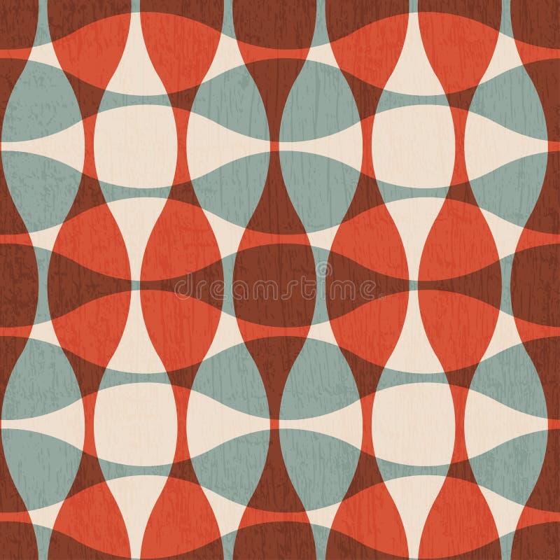 Curvas rojas abstractas inconsútiles ilustración del vector
