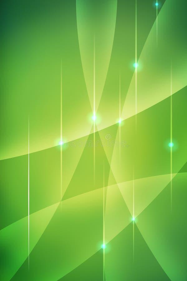 Curvas verdes abstractas stock de ilustración