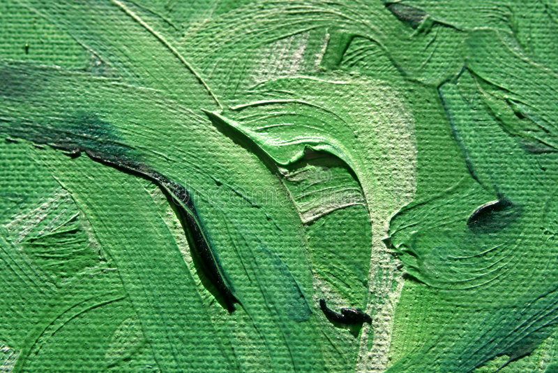 Curvas verdes de Oilpainting imagenes de archivo