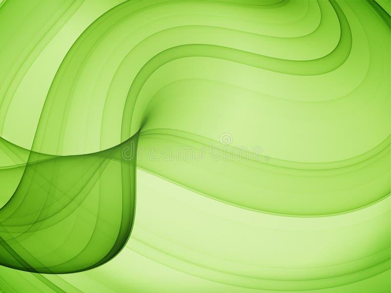 Curvas verdes olivas stock de ilustración