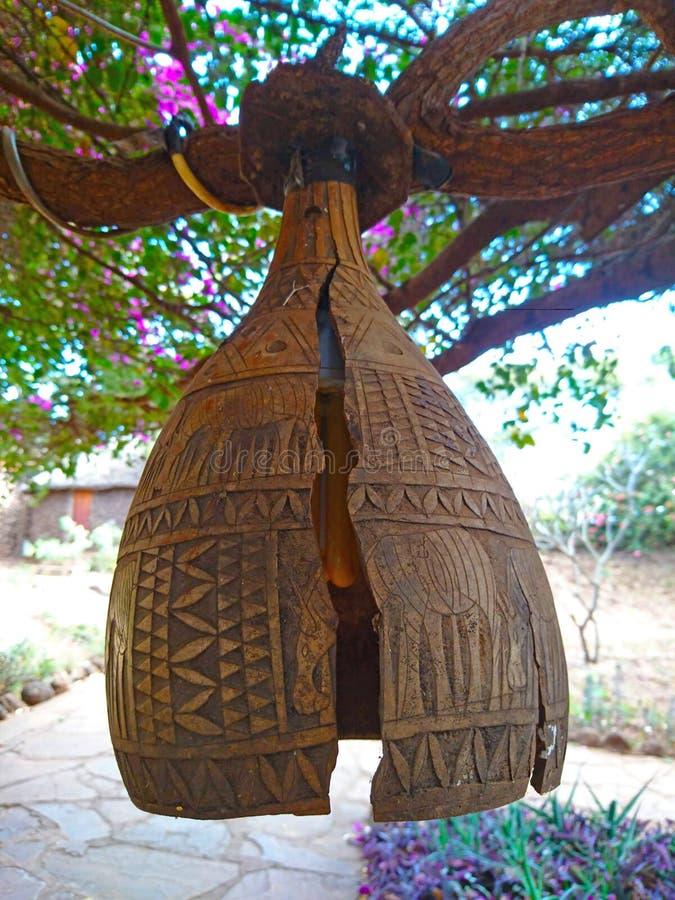 Curvatura africana tradicional en la madera fotos de archivo libres de regalías