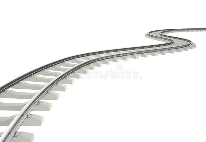 Curvatura da ilustração, estrada de ferro da volta isolada no branco ilustração royalty free