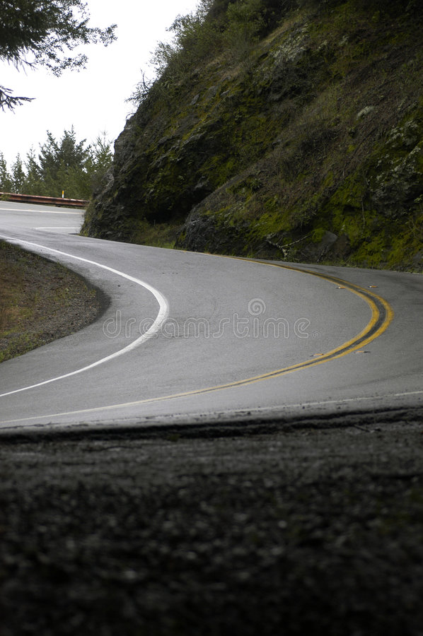 Curvatura da montanha S após a chuva 2 fotos de stock
