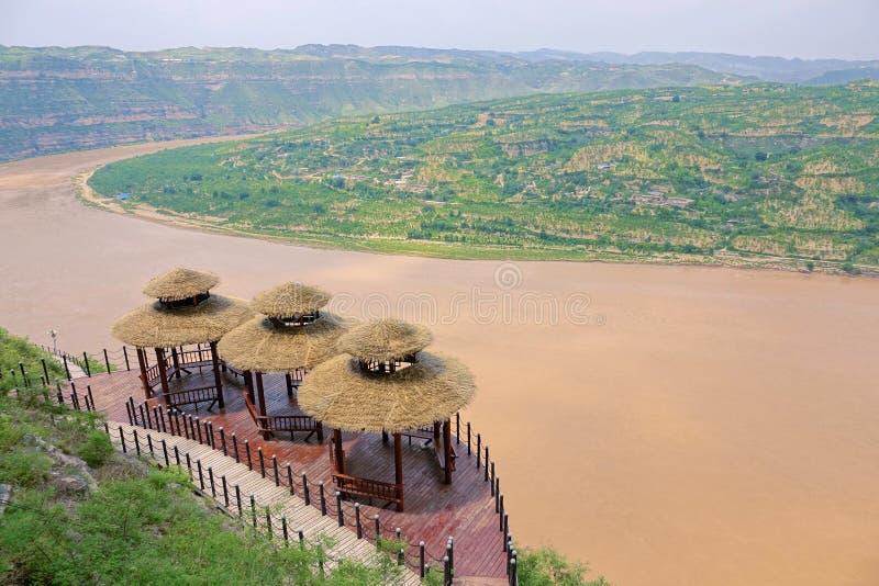 Curvatura de Qiankun do Rio Amarelo fotografia de stock royalty free