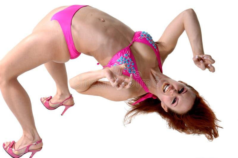 Curvatura della parte posteriore del danzatore immagine stock libera da diritti