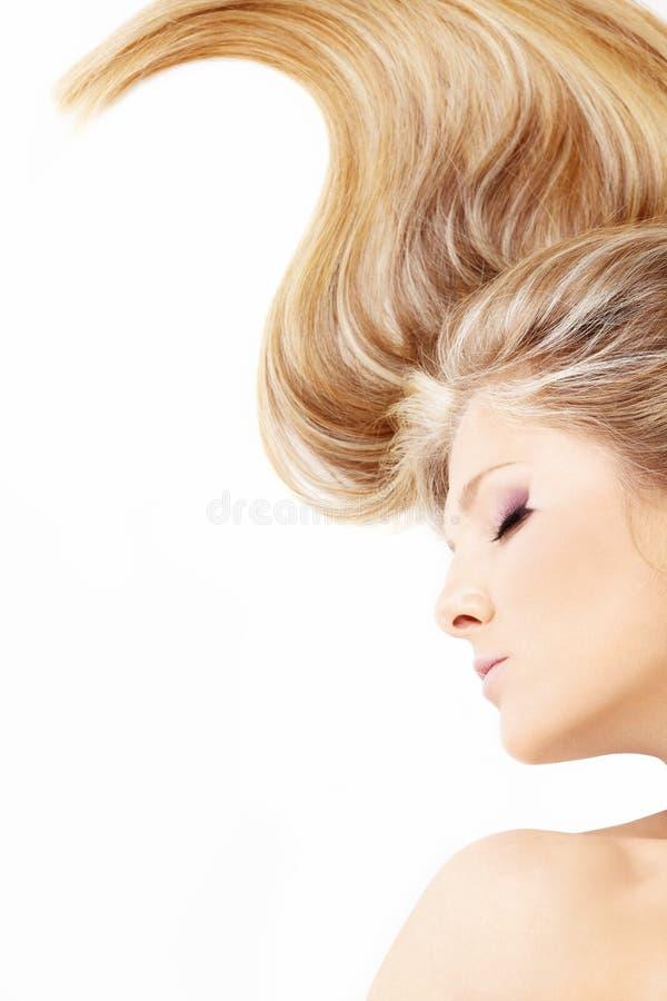 Curvatura do cabelo fotografia de stock royalty free