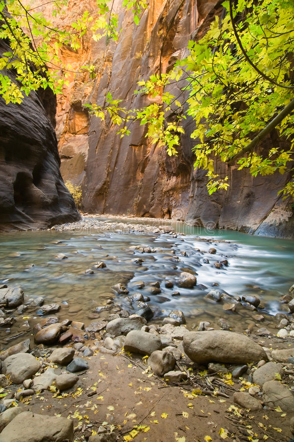 Curvatura do rio foto de stock