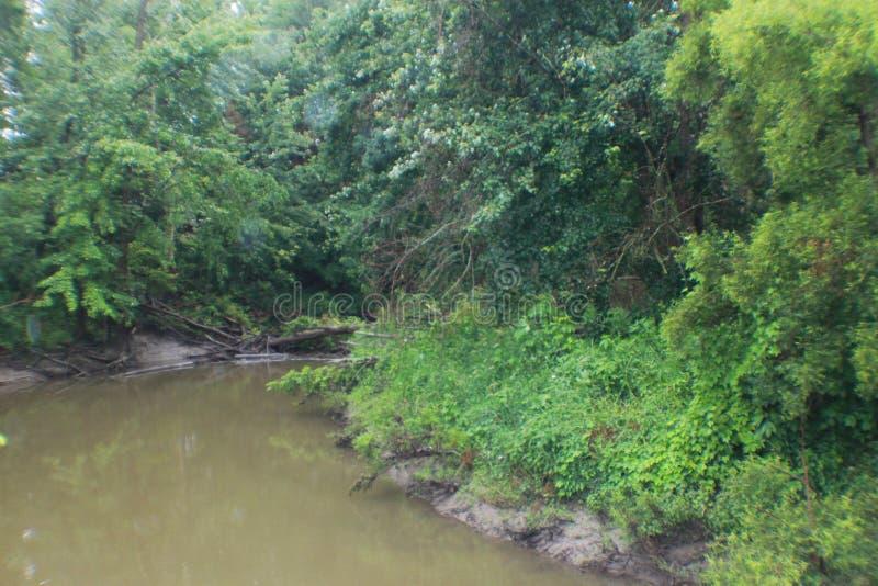 Curvatura do rio de Michigan, ponte foto de stock royalty free