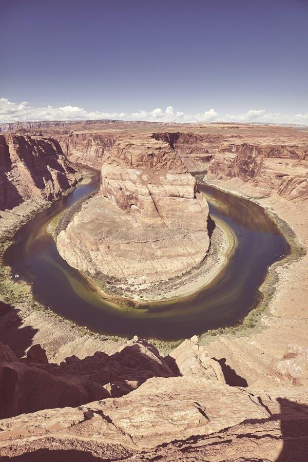Curvatura e o Rio Colorado em ferradura, o Arizona, EUA fotografia de stock royalty free