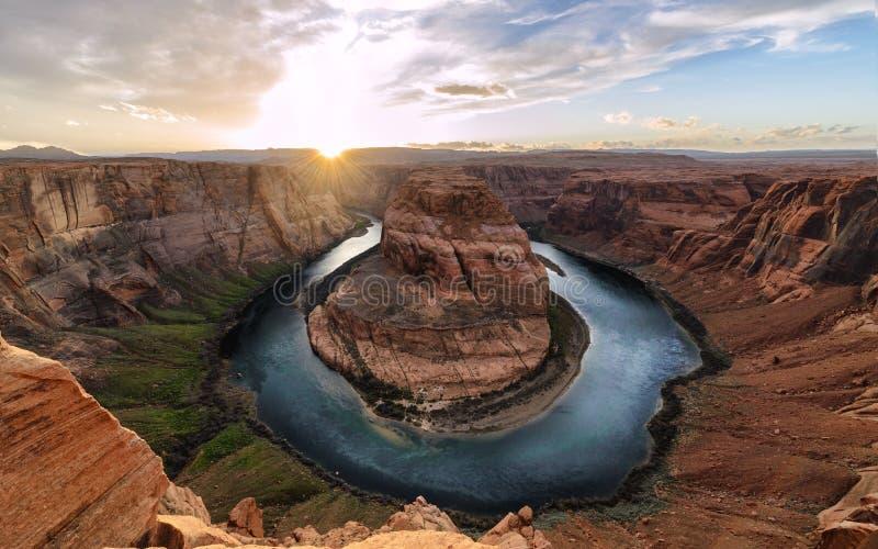 Curvatura e o Rio Colorado em ferradura, Grand Canyon imagem de stock