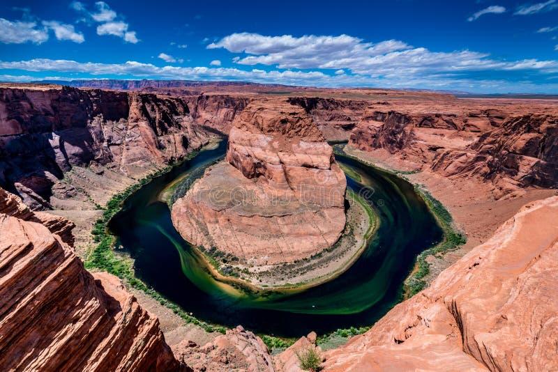 A curvatura em ferradura bonita no Arizona fotografia de stock