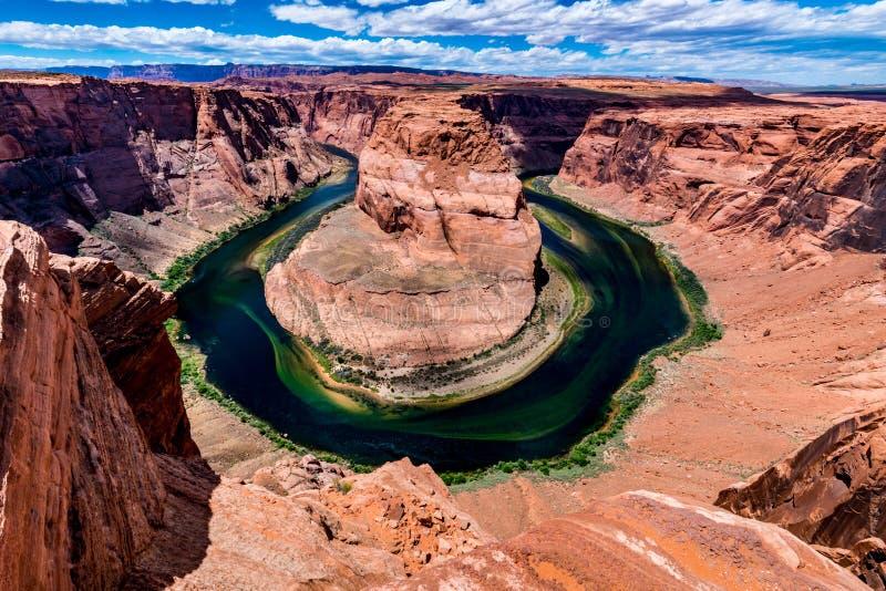 A curvatura em ferradura bonita no Arizona foto de stock