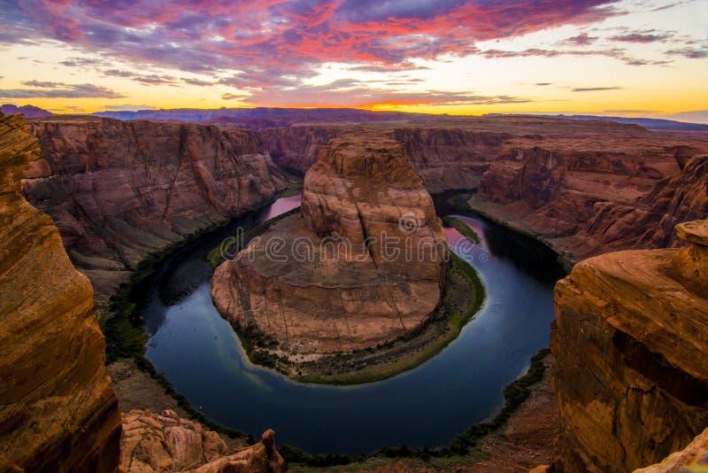 Curvatura em ferradura no rio de Colorado imagens de stock royalty free