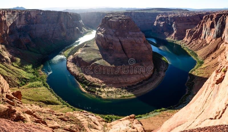 Curvatura a ferro di cavallo di Grand Canyon vicino alla pagina Arizona immagini stock libere da diritti