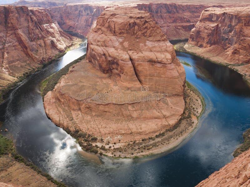 Curvatura a ferro di cavallo il fiume Colorado a U S a fotografia stock libera da diritti