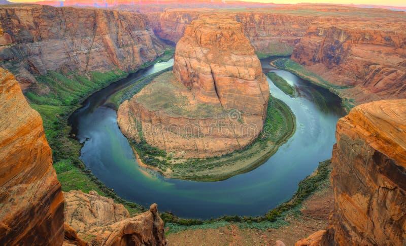Curvatura a ferro di cavallo, pagina, Arizona, Stati Uniti immagini stock libere da diritti