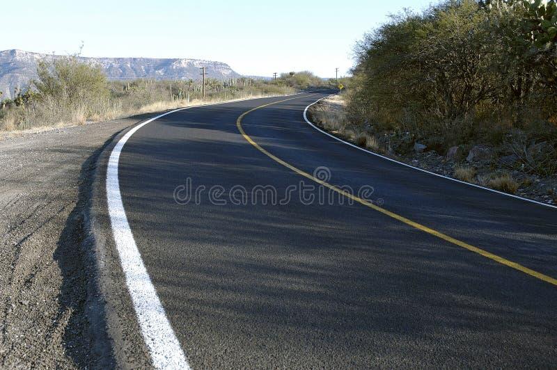 Curve Ahead Stock Image