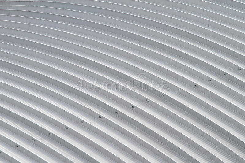 Curve aluminium sheet roof, factory steel roof stock photography
