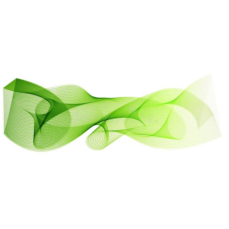 Curve as linhas verdes, fundo abstrato com ondas do movimento, vetor ilustração do vetor