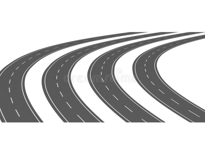 Download Curve asphalt road 05 stock illustration. Image of render - 6883560