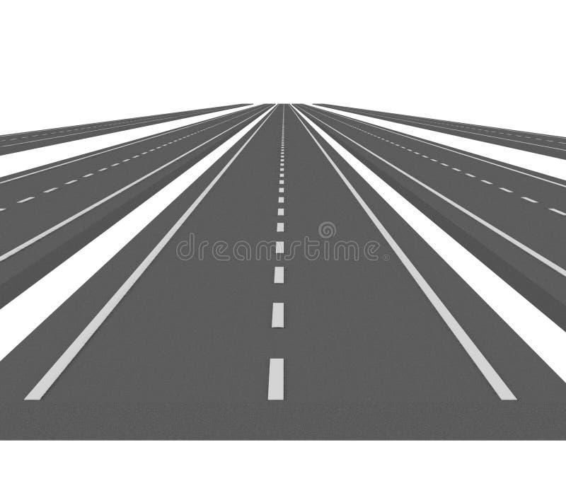 Download Curve asphalt road 07 stock illustration. Image of render - 6883606