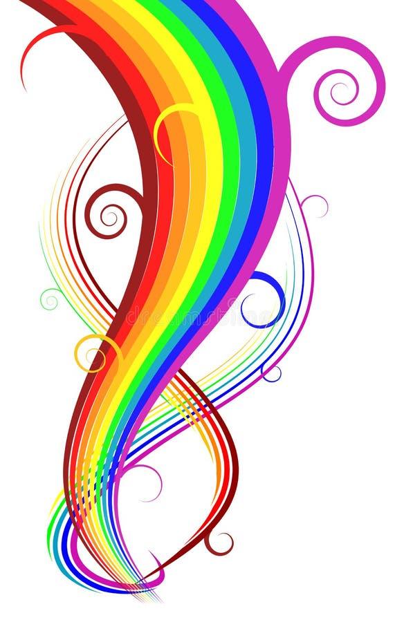 Curve astratte del Rainbow di vettore illustrazione vettoriale