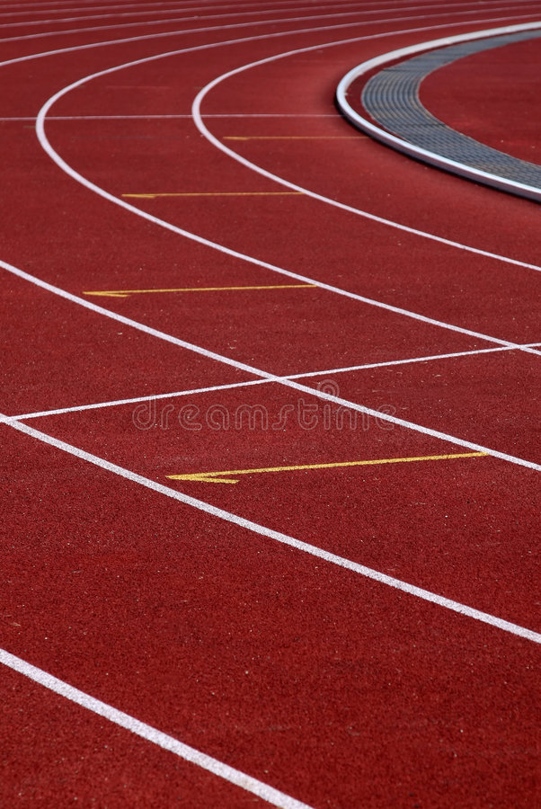 Download Curve Athletics Running Track Stock Image - Image: 1074679
