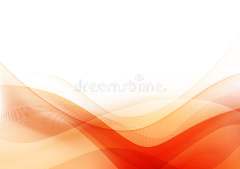 Curve and blend light Orange abstract background 003. Abstract background curve line orage ight and blend element with copy space vector illustration eps10 royalty free illustration