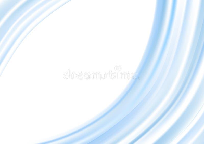 Curve blu-chiaro astratte nel fondo bianco royalty illustrazione gratis