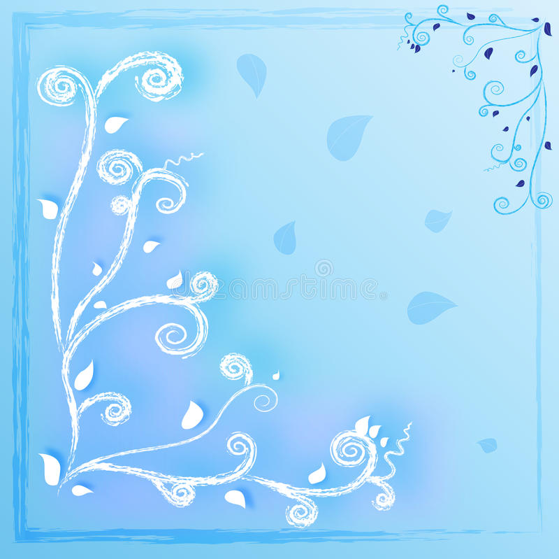 Curve blue background royalty free stock photography